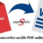 Convertire un file PDF online con Sejda