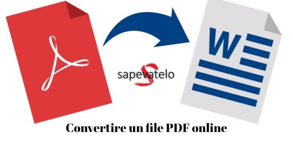 Convertire PDF online