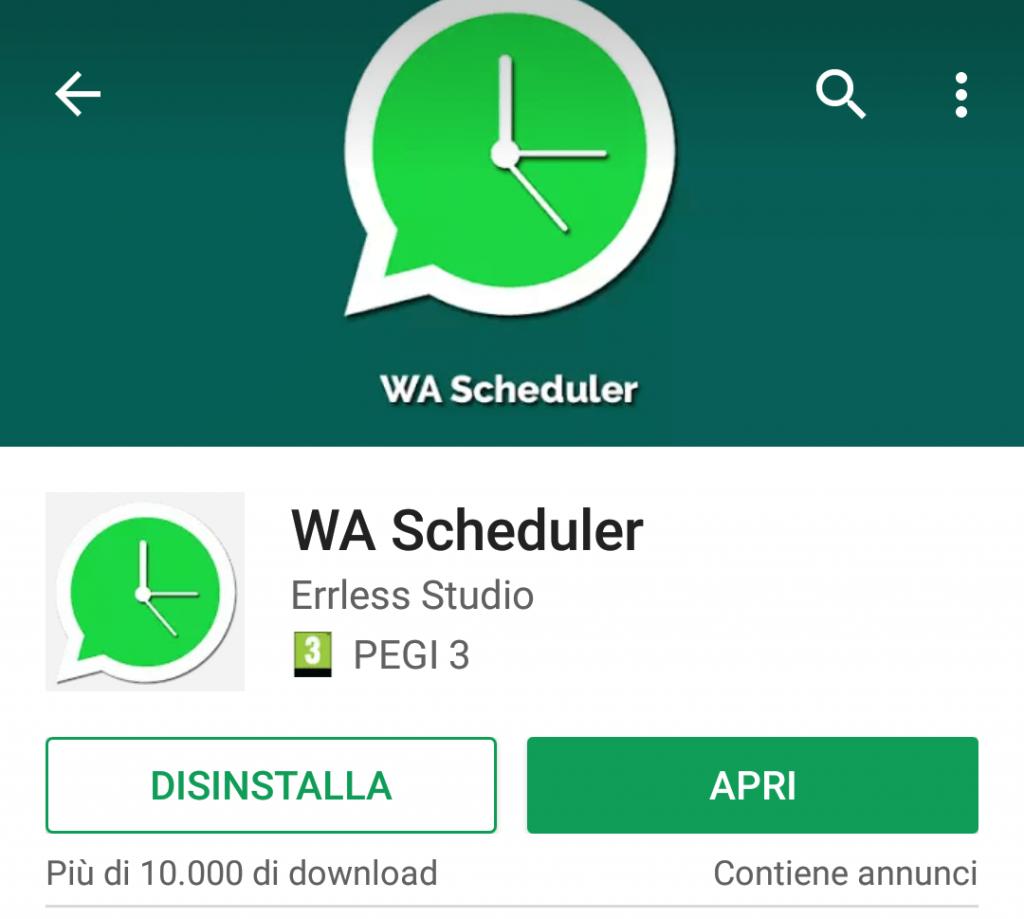 messaggi programmati whatsapp