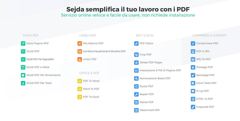 Convertire un file PDF online