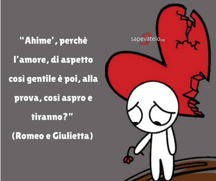 Romeo e Giulietta frasi