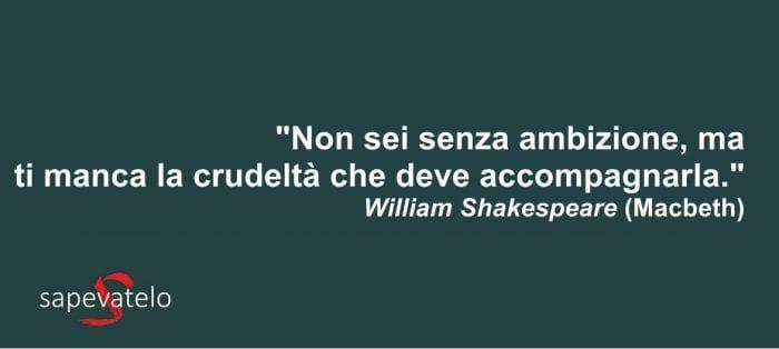 citazioni shakespeare