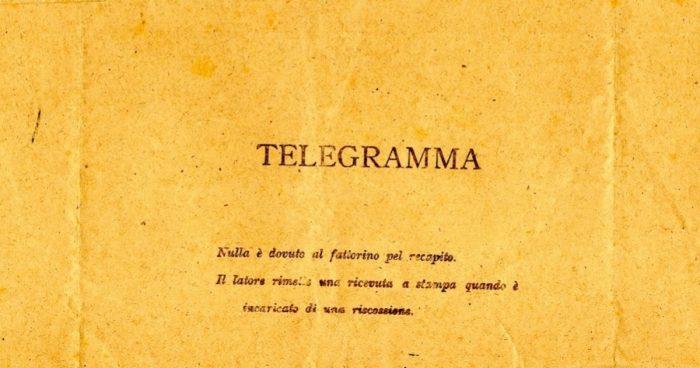 Dettatura telegrammi