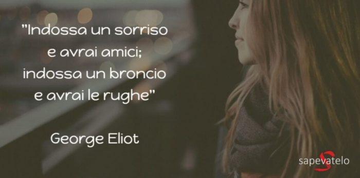 frase sorridere George Eliot