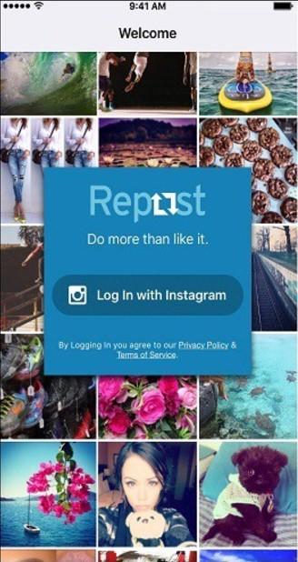 effettuare il login su instagram per utilizzare repost of instagram