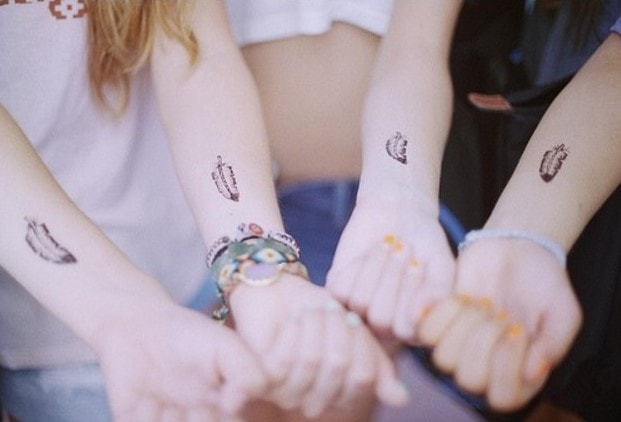 tatuaggi migliori amiche