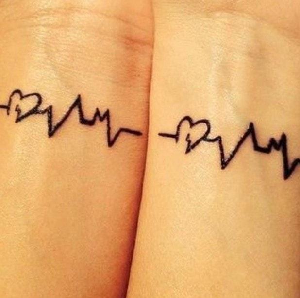 tatuaggio elettrocardiogramma