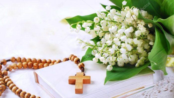 mazzo di fiori prima comunione