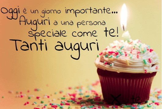 Buon compleanno persona speciale
