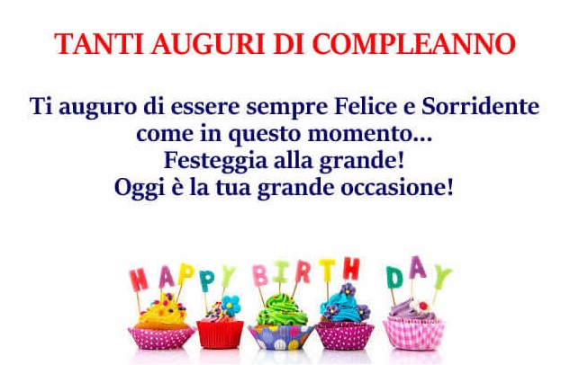 Tanti auguri di compleanno happy birthday