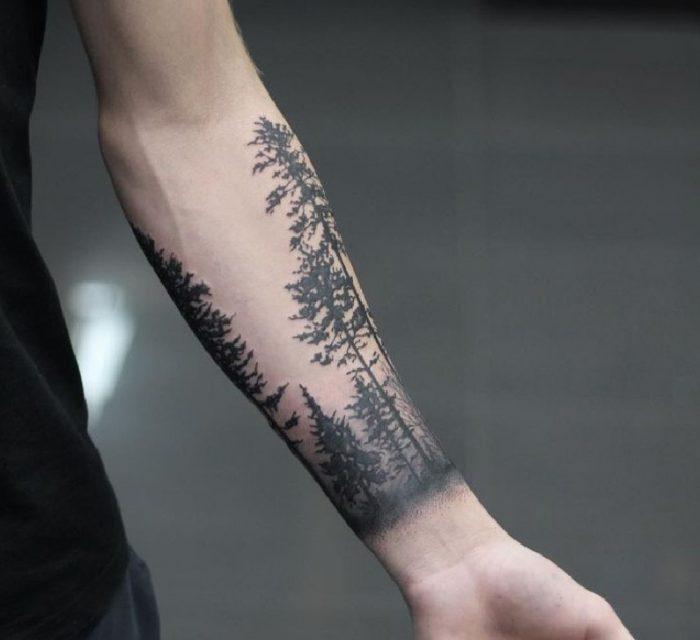 tatuaggi braccia foresta