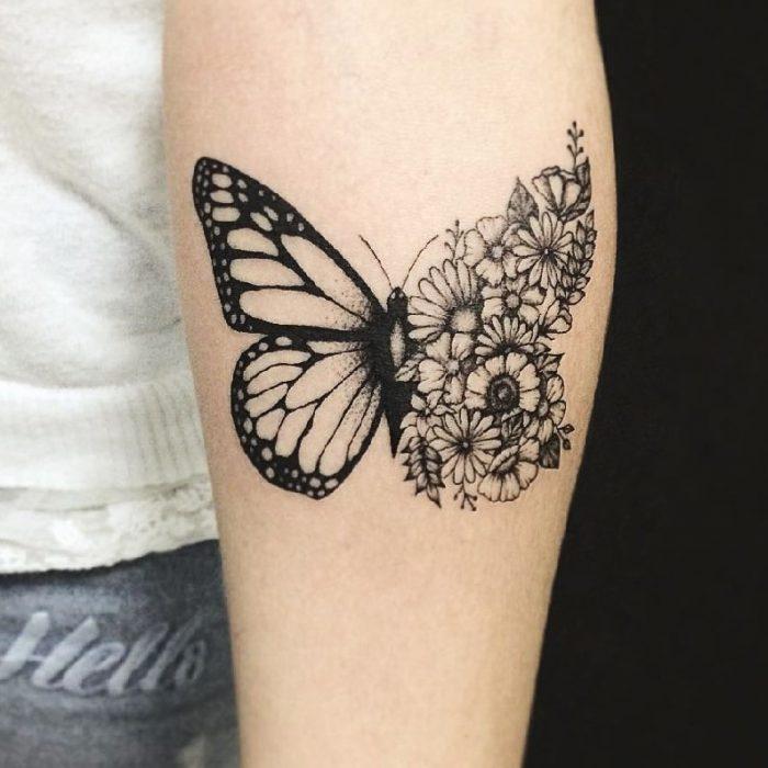 tatuaggio farfalla braccio donna