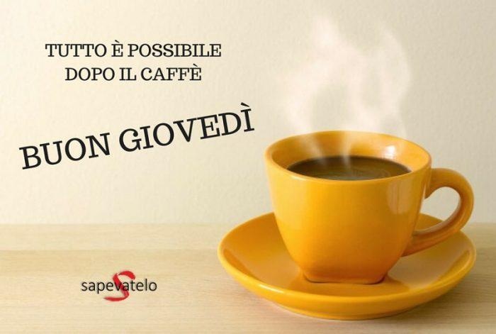 Buon giovedì caffè