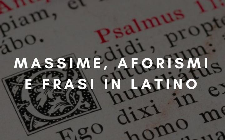 Belle Frasi Latine