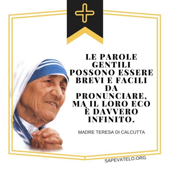 Le Più Belle Frasi Di Madre Teresa Di Calcutta