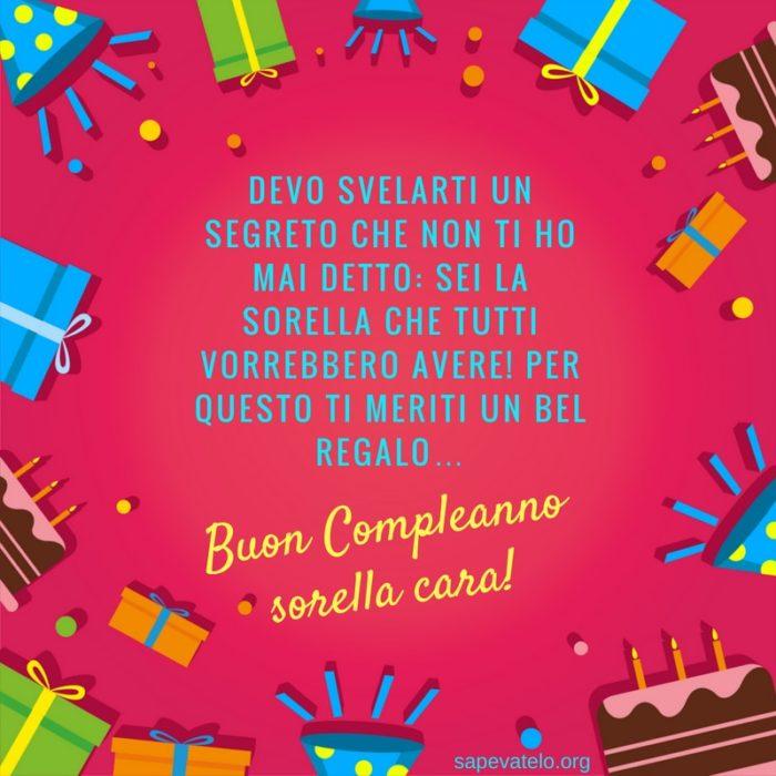 Frasi Immagini E Video Di Auguri Di Buon Compleanno Sorella