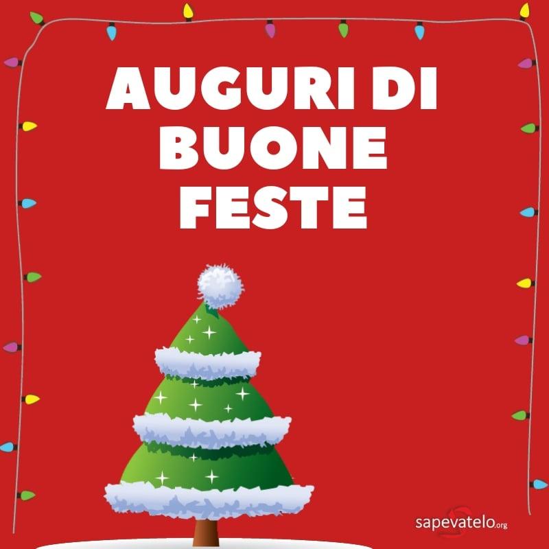 auguri di buone feste natalizie