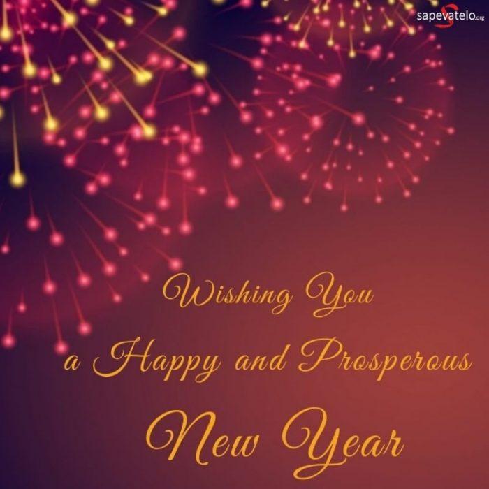 auguri di buon anno in inglese